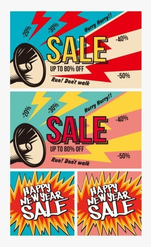 Happy New Year SALE banner ad