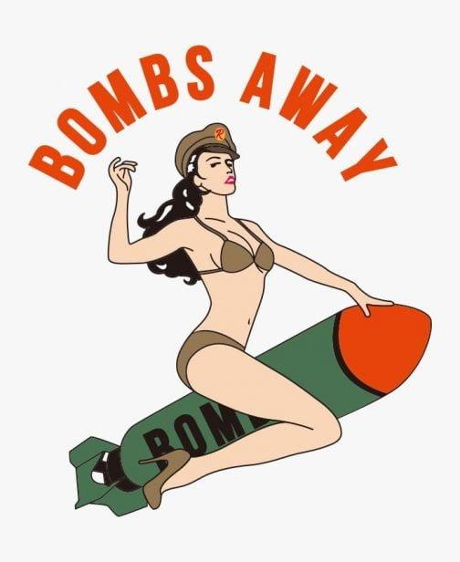 Retro Army Girl - Pin ups