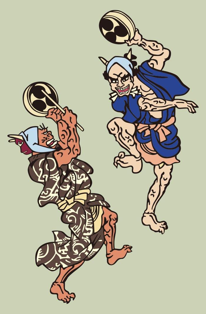 Demon Lightning Thunder Japanese Ukiyo E By Kuniyoshi Utagawa Ai Illustrator File Us 5 00 Each Ai Png File