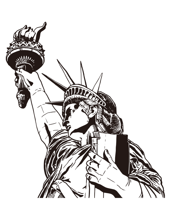 The Statue Of Liberty Drawing Ai Illustrator File Us 5 00 Each Ai Png File