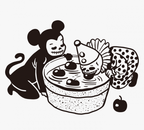 Two Skull Kids / Bite an Apple / Drawing