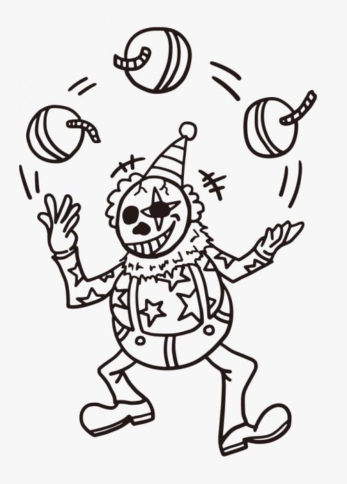 Skull Clown / Drawing