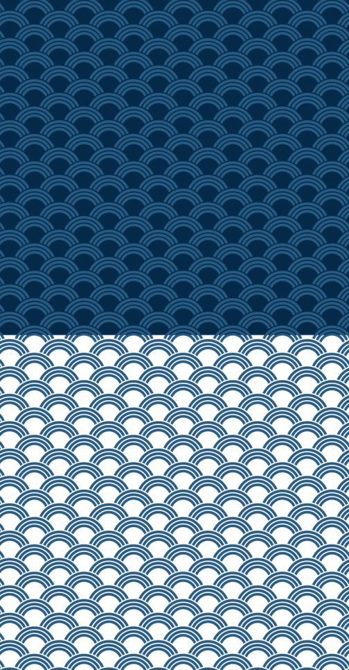 Seigaiha / Japanese wave pattern