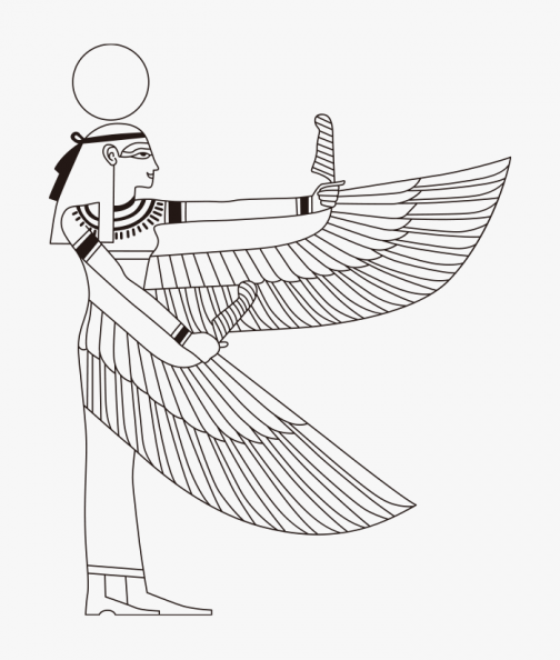 Egyptian Motif / Isis / Egypt / Drawing