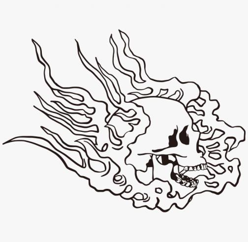Skull Fireball / Drawing