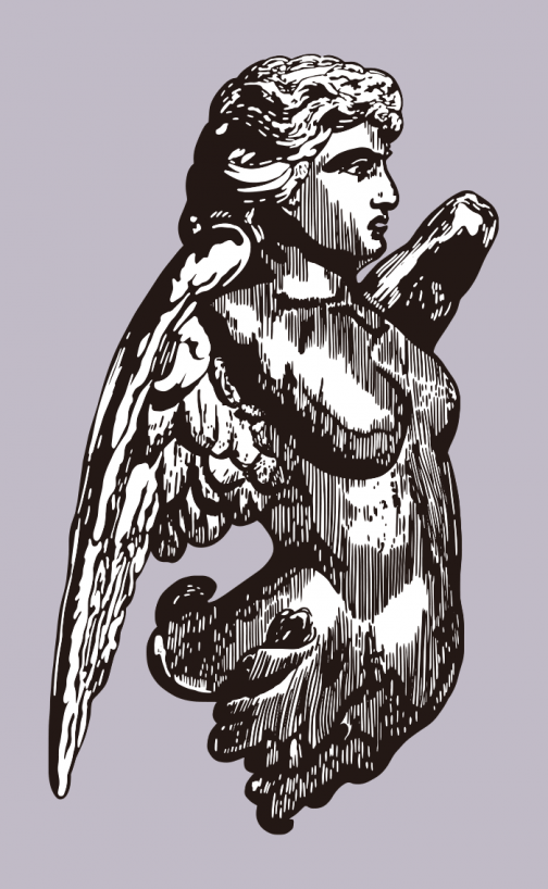 Stone Statue of Angel drawing