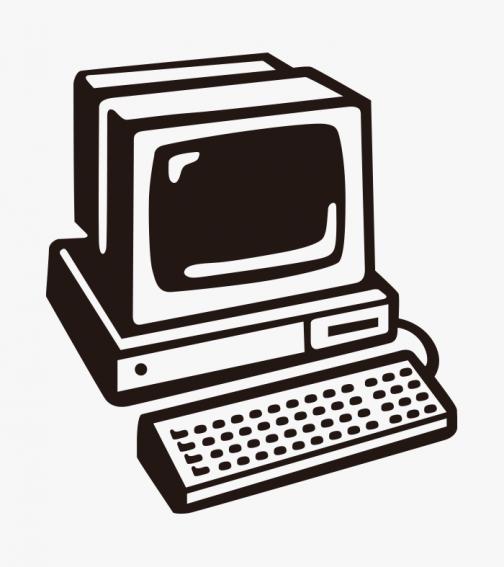 Retro computer - illustration -