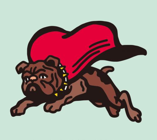 Super Bulldog - dog drawing