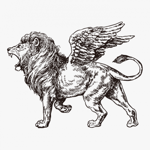 Sharbhesha - A drawing of lion with wings