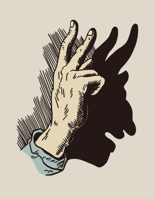 The Devil's Sign with Your Finger - Drawing