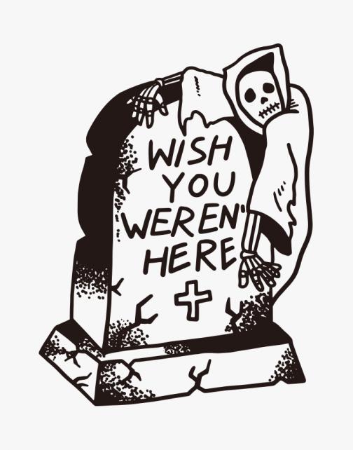 Wish you weren't here - Skull feelings - Drawing