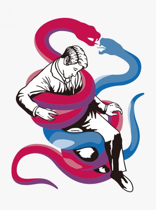 Whisper of the Devil (Snake) - Drawing