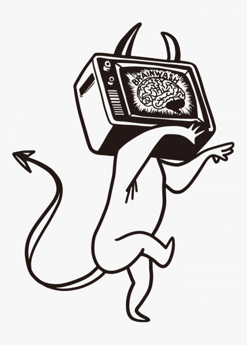 TV is the Devil's Brainwashing - Character drawing