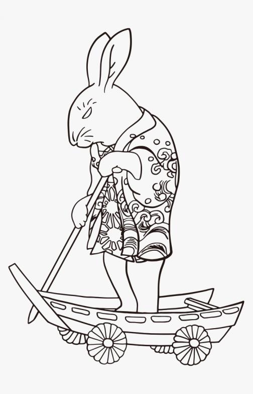 Rabbit - Character - Japanese Ukiyo-e by Kuniyoshi