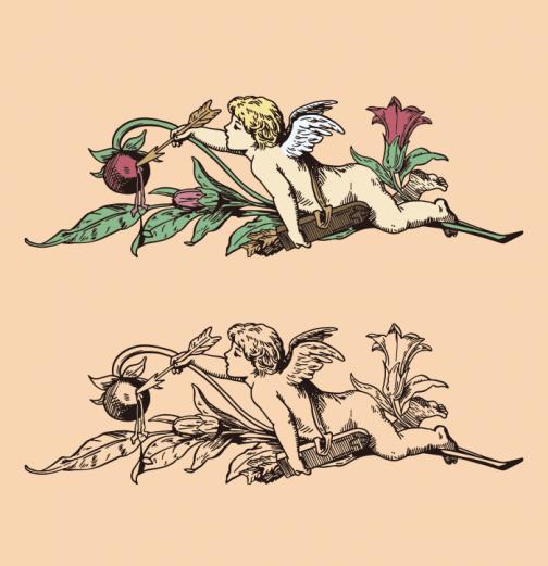 Angel - Cupid - Drawing