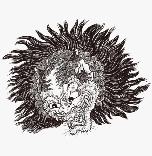 Shuten Doji - Yokai - Japanese Ukiyo-e by Utagawa Yoshitsuya