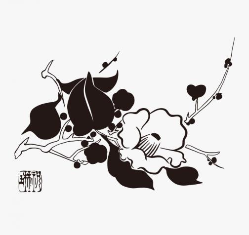 Flowers of the Twelve Months, February by Suzuki Kiitsu