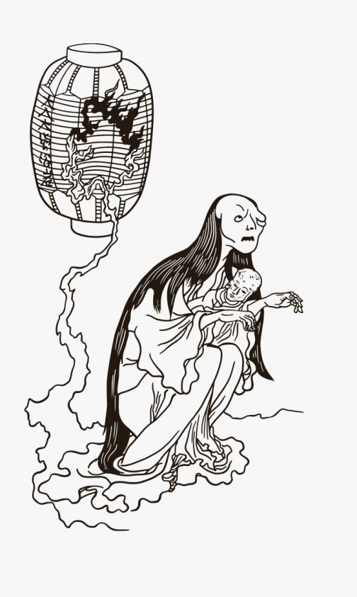 Yotsuya Kaidan - Yokai Ghost - Ukiyo-e by Utagawa Kuniyoshi