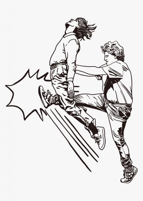 Kick up one's balls - Drawing