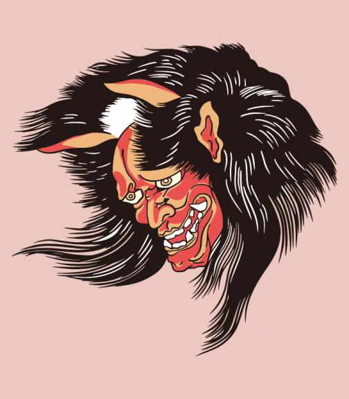 Ibaraki Doji - Legendary demon - Japanese Ukiyo-e by Utagawa Kunisada