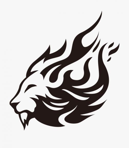 Fireball Lion Logo