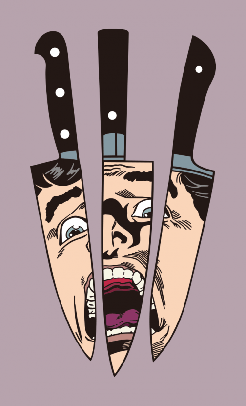 Fear in the knife - Illustration