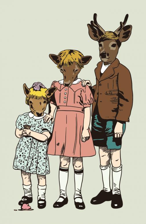 Animal-human hybrids - Drawing