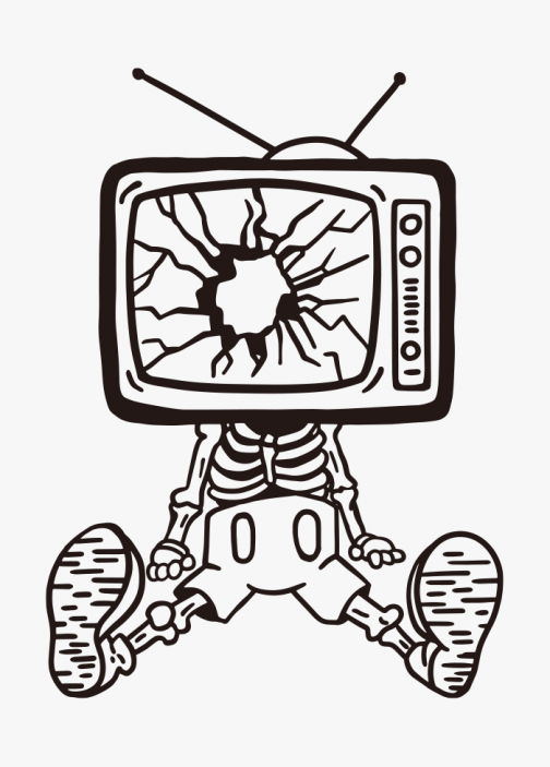 Stay away from TV media - Brainwash - Drawing