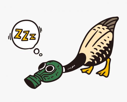 Even Ducks Need Masks - Drawing