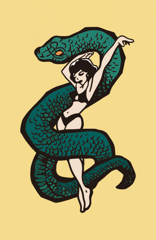 The Dancer and the Snake - Drawing